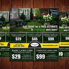 Landscaping Marketing Lawn Care Marketing Postcard 3 Lawn Mowing Business