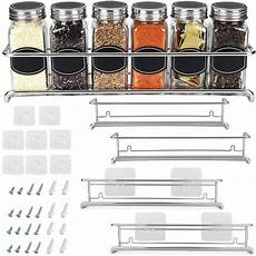 spice rack organizer for cabinet door mount or wall