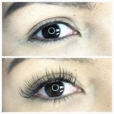 before after set of classic lash extensions