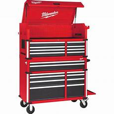 milwaukee 46 in 18 drawer tool chest and cabinet combo 48