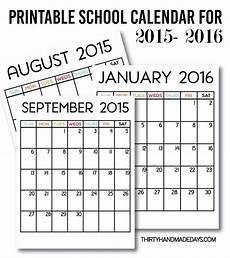 Blank School Calendar Printable School Calendar For 2015 2016 Download Our Free