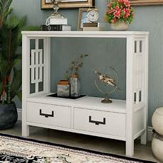console sofa table with two bottom drawers farmhouse