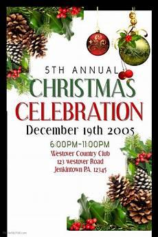 Christmas Poster Templates Christmas Celebration Poster Template Christmas Poster