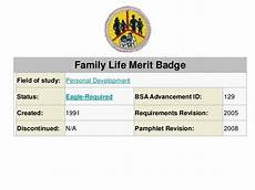 family life merit badge family life merit badge