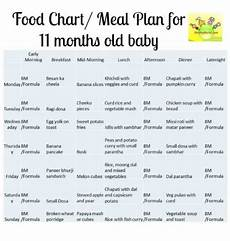 1 Year Baby Food Chart Indian 11 Month Baby Food Chart Food Chart Meal Plan For 11