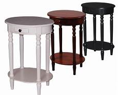 oval accent table urbanest solid wood oval accent side end table with a