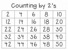 Counting By 2 S Chart Counting By 2 S 5 S 10 S Amp 1 S Reading Number Cards By