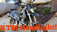 Suzuki Drz400sm Light Drz400sm Supermoto Ktm Headlight Mod Install Diy Youtube