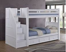 dillon white bunk bed with storage stairs bunk beds