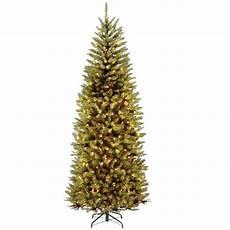 7 5 Slim Christmas Tree With Led Lights National Tree Company 7 5 Ft Powerconnect Kingswood Fir