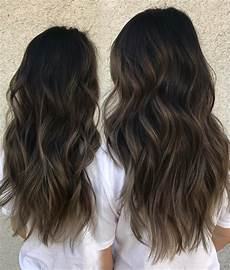 Dark Brown To Light Ash 50 Dark Brown Hair With Highlights Ideas For 2020 Hair