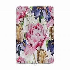 vintage watercolor pink flower blanket soft warm cozy bed