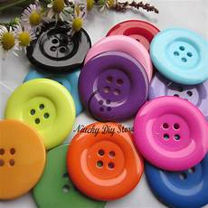 clothes buttons 50pcs 38mm 4 holes colorful resin coat buttons large