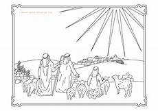 the bethlehem shepherds colouring book second