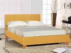 seconique prado 4ft6 mustard upholstered fabric bed