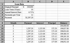 Amortization Chart Mortgage Excel Amortization Schedule Fragment Amortization