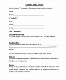 Vehicle Purchase Agreement Form Free 7 Vehicle Purchase Agreement Samples In Ms Word Pdf