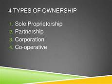 Three Types Of Business Ownership Types Of Business Ownership