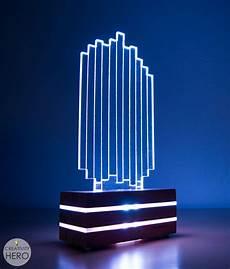 Led Light Diffusing Acrylic Diy Acrylic And Wood Color Changing Led Lamp Creativity Hero