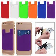 card sleeve for phone silicone wallet credit card sticker adhesive holder