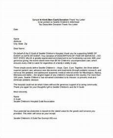 Sample Letter Of Donation Donation Thank You Letter 6 Free Word Pdf Documents