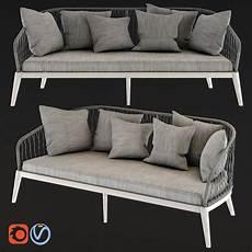Small Grey Sofa 3d Image by 3d Endoume Grey Woven Cord 3 Seater Garden Sofa Cgtrader