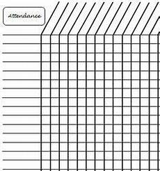Images Of Attendance Chart Simple Attendance Sheet Google Search Uu Re