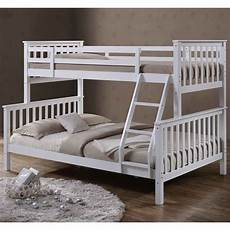 solid white wood single bunk bed home done