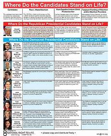 2012 Republican Presidential Candidates Comparison Chart 2020 Election Where Do The Presidential Candidates Stand