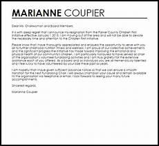 Board Resignation Letter Sample Board Resignation Letter Resignation Letters Livecareer