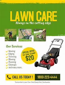 Lawn Mower Flyers Lawn Care Service Flyer Template Postermywall