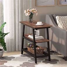 industrial end table tribesigns 3 tier vintage bed side