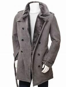 mens coats s grey shearling coat coryton caine