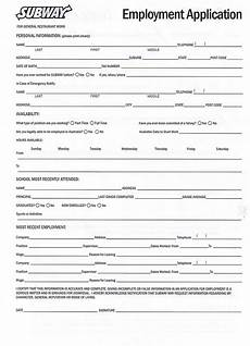 Easy Online Applications Jobs Printable Employment Application For Subway With Images