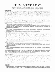 Essays College Personal Essay Examples For College