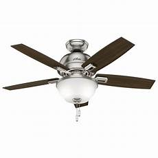 Nickel Ceiling Fan With Light Hunter Donegan 44 In Led Indoor Brushed Nickel Ceiling