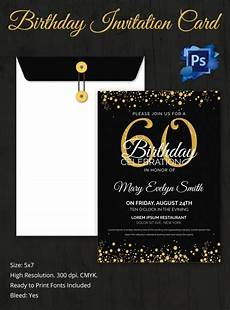 Free Printable 60th Birthday Invitations Templates Birthday Invitation Template 70 Free Psd Format