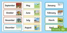 Printable Month Month Of The Year Word Cards Teacher Made