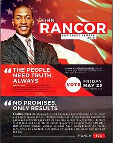 Campaign Poster Template Free Political And Voting Flyer Templates Graphicmule
