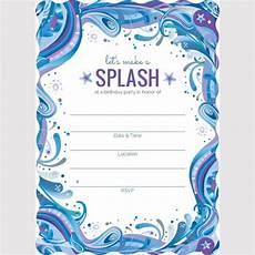 Blank Birthday Invitation Templates 7 Blank Party Invitations Free Editable Psd Ai Vector