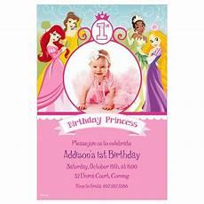 Disney Birthday Invites Custom Disney Princess 1st Birthday Photo Invitations