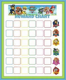 Sticker Chart Toddler Paw Patrol Reward Chart All Things Kids Potty Training