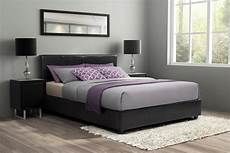 essential home faux leather upholstered bed