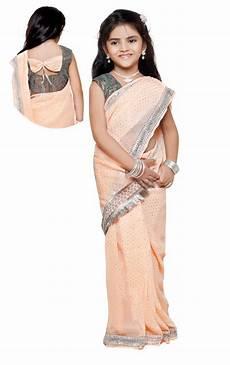 Children Saree Design Latest Kids Saree Models Indian And Bharatmother S Blog
