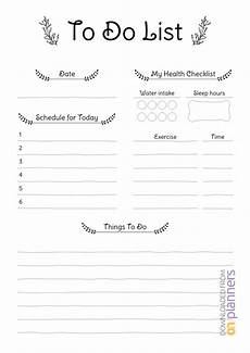 To Do List Printable Checklist Download Printable Daily To Do List Pdf Regarding Blank