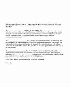 Teacher Recommendation Letter For Student Free 8 Sample Teacher Recommendation Letter Templates In