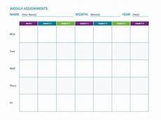 Homework Assignments Template Weekly Assignment Sheet Office Templates