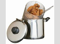 Stainless Steel Deep Fryer 6 quart Stovetop   Traditional