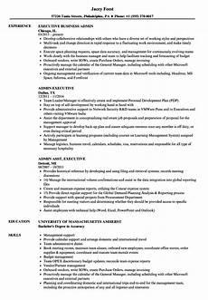 Sample Resume Of Admin Executive Admin Executive Resume Samples Velvet Jobs