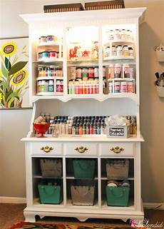 craft storage center from and hutch